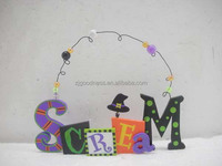 HALLOWEEN HAT SIGN PLAQUE SCREAM ADORABLE DECORATION