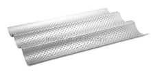 carbon steel non-stick perforated baguette baking pan