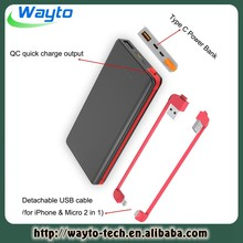 Power Bank For Samsung Galaxy S4 Mini I9190 Charger With Type-C Function