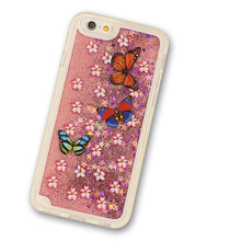 china supplier wholesale glitter stars liquid cell phone case for iPhone 6