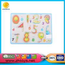 2016 Promotion education toy wooden number puzzle import toys from china