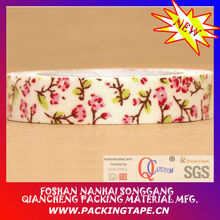 Water based glue printed paper floral tape for decorative and gift packaging