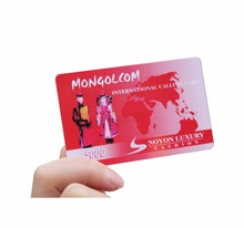 Plastic Prepaid Customized Scratch Calling/ Phone Card with Factory Price