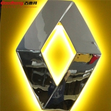 Hot Selling ! Fashion custom LED car chrome Badge Emblem with car logo , Lighted car emblem