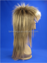 SH0025 NEWLOOK 100% High Quality Wholesale for Party Cosplay Carnival Fancy Long SPIKE SPIKY STYLE Golden Synthetic WIG