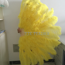 wholesale double plys large belly dancing ostrich feather fans free shipping
