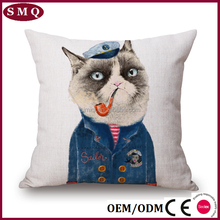 Cotton or polyester material custom digital printed cushion
