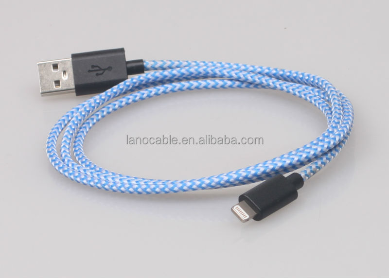 Original data sync charging c48 connector nylon braided 8 pin mfi cable
