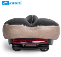 INBIKE Bicycle Saddle with Tail Light Widen MTB Saddle Cushion Road Bike Seat Shock Resistant Bike Parts