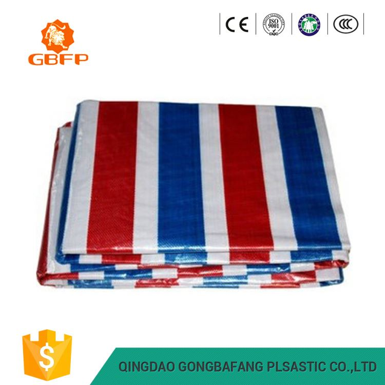 China Red Low Price Pvc Pe Strip Scaffolding Cover Tarpaulin Factory