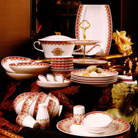 Hot sale Luxury 80 pieces bone china dinnerware for 10 people