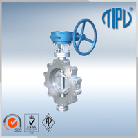 High performance Gear Box valve butterfly for oil and gas