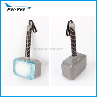 Wholesale superhero kids toys plastic LED Thor Hammer thor's mask