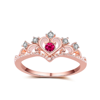 Boutique crystal crown alloy jewelry wedding rings