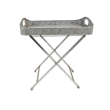 Living Room Furniture Decorative Metal Iron Folding Coffee Tray Table