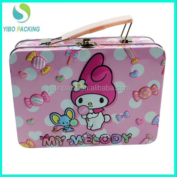 2016 newly designed blank tin lunch box food grade tin box with custom print tin packaging