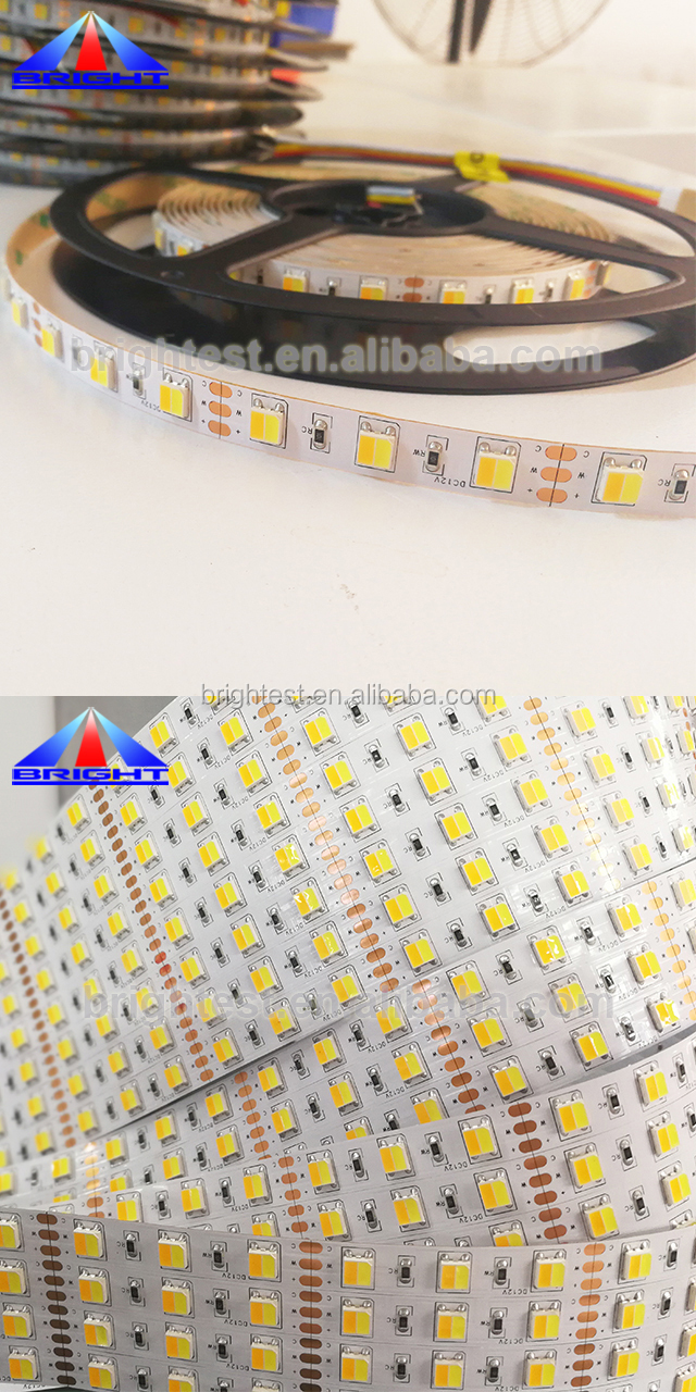 Contemporary best sell 300LEDs bi color flexible led strip flat top