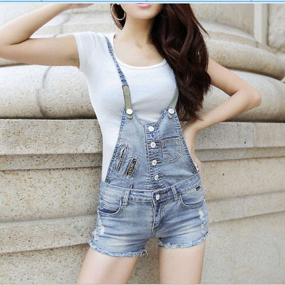 D22685Q 2014 NEW DESIGNS EUROPE FASHION SUMMER WOMEN DENIM OVERALLS