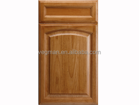 American style curved oak solid wood kitchen cabinet door