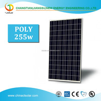 Poly-crystalline Solar Panel 255W suntech solar panel price