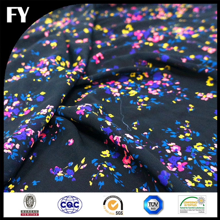 make to order polyester flora digital print fabric