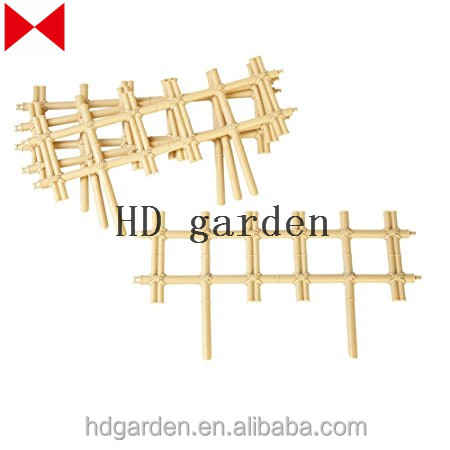 Bamboo Look Border and Garden Edging - Set of 4