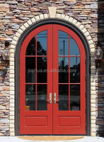 Wood French Exterior Door With Glass Trim