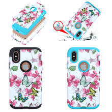New Fashion Butterfly Flower TPU PC Mobile Case for iPhoneX , for iphone X shockproof Case Cover