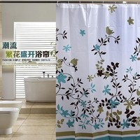 Uomere New Big Size Shower Curtain Floral Tree Waterproof Bath Curtains 72x72""