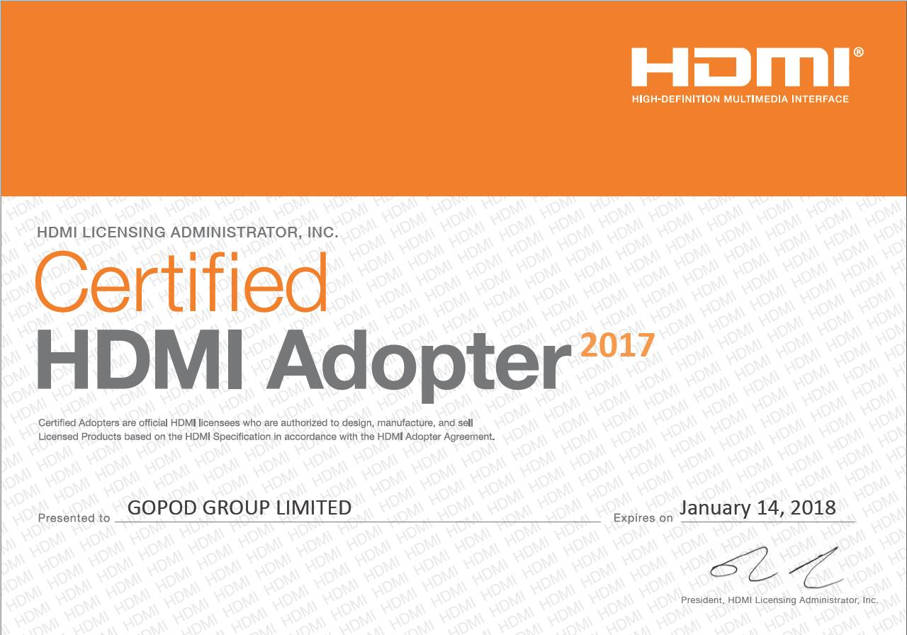 Certified HDMI Adopter