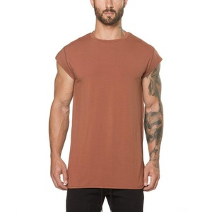 2018 new products o-neck cheap custom logo printed 95 cotton 5 spandex rounded hem mens fitness running t shirt in bulk