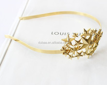 Fashion Stars Headband Thin Metal Headband with Stars