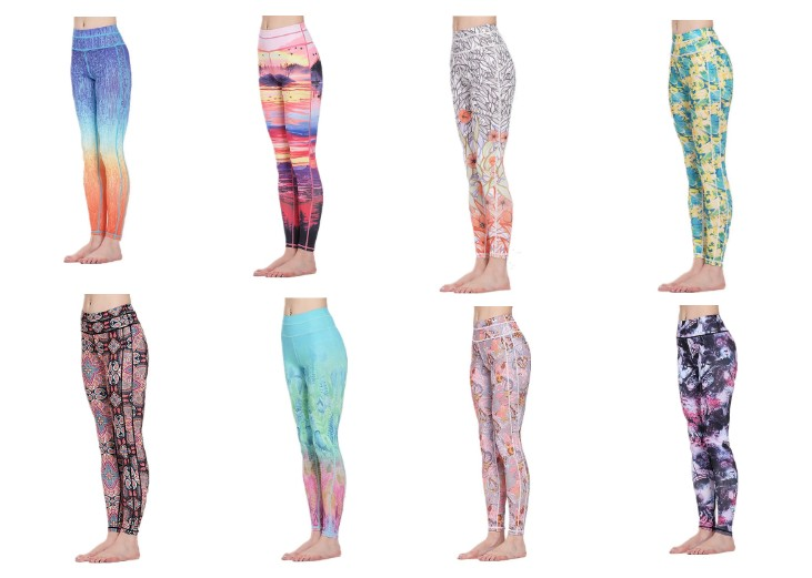 High quality fitness printed polyester sexy custom womens leggings yoga pants