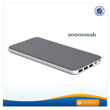 AWC839 3 USB portable charger rohs charger 20000 mah silm power bank li battery for mobile phone
