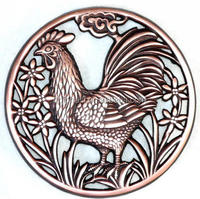 copper chicken shape cast iron trivets
