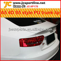 Unpainted PU primer A5 S5 rear spoiler for 2009-2012 Audi A5 4doors car rear trunk lip auto boot wing