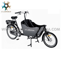 Hot sale electric cargo bike with cabin/cargo tricycle with CE certification for sale/2 wheel bakfiets Clamber UB9015E