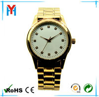 2014 popular men watches made in china wholesale golden alloy watches