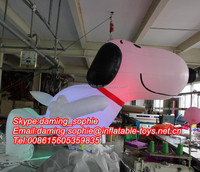 Lighting Inflatable Snoopy Cartoon for Party/Events Decoration