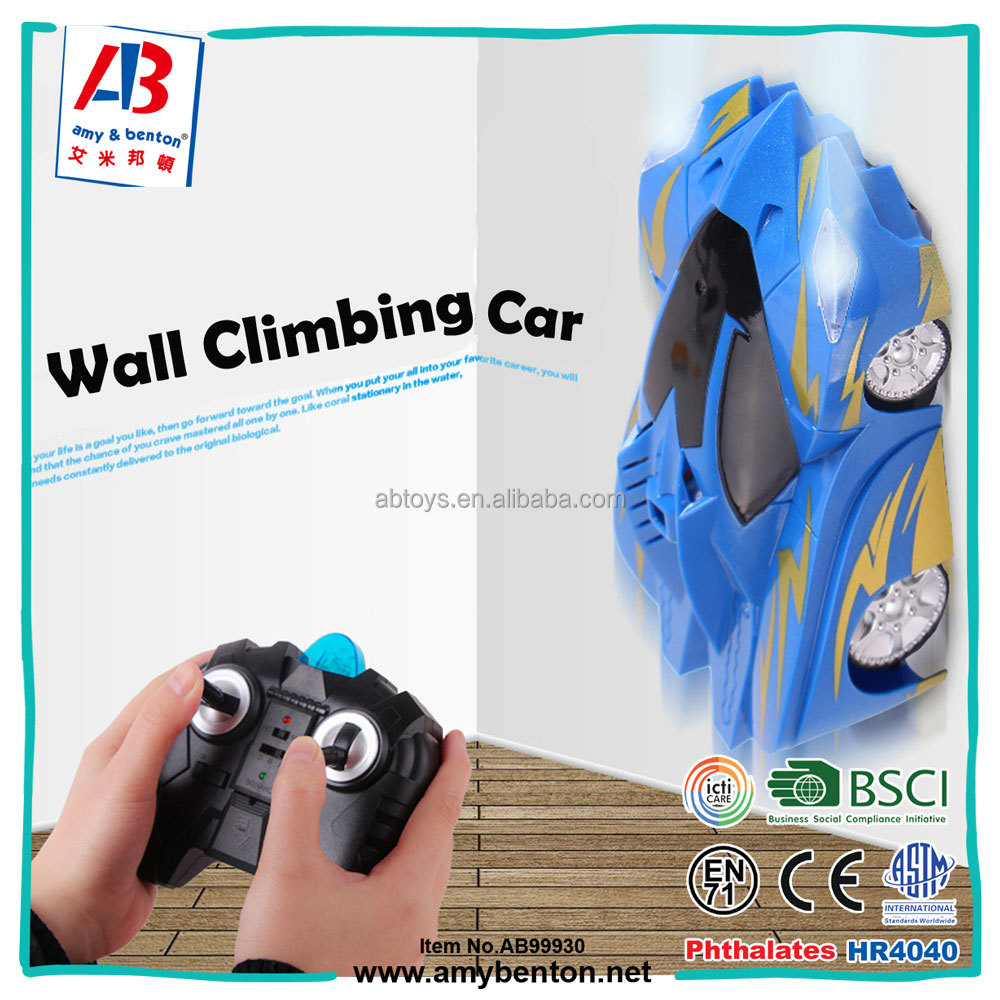 Hot selling remote control wall climbing car toys