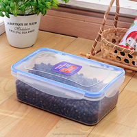 Malaysia oven safe plastic food container rectangular with lid,1200ML