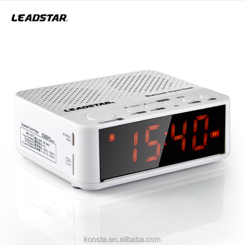 Portable household As mobile player clock radio with sd usb card slot