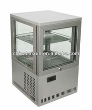 Counter top four sided glass show case coolers display fridge,dessert,sandwich display/bakery showcase cooler BR38