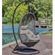 2019 Best Selling Outdoor Furniture Patio Waterdrop shaped Egg Chair PE wicker hanging swing chair, swing seat indoor kids hangi