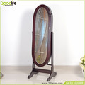 Espresso finished oval mirror jewelry cabinet Standing Cheval Mirror Jewelry Armoire