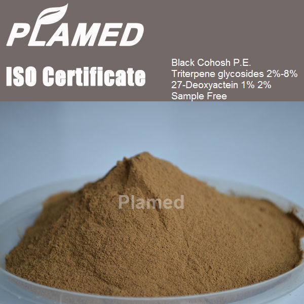 Super black cohosh root extract powder supplier,100% pure black cohosh root extract powder