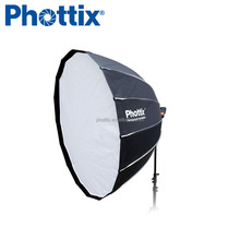 120cm 47inch Easy Assembly Black Silver 16 rods Deep Parabolic Softbox for outdoor photography Studio strobe light