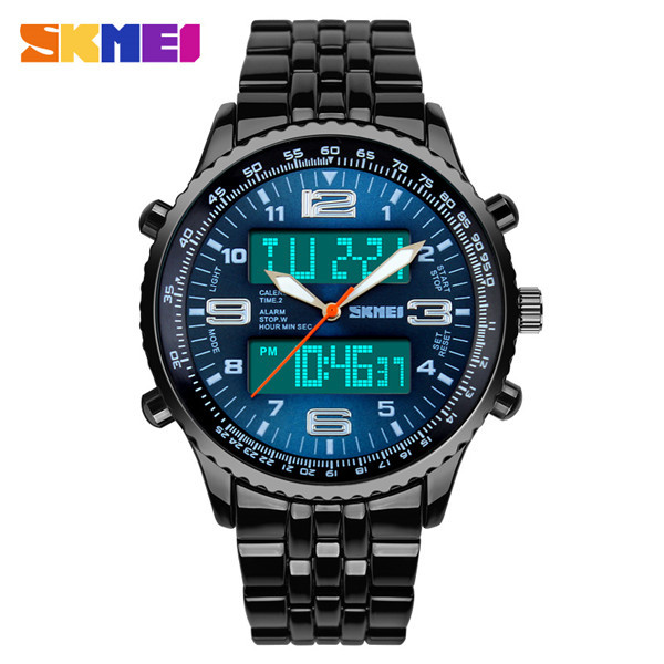 www youtube com watch unique design 2015 stylish Dual big face Watch man