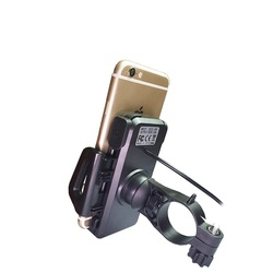 New Arrival Universal motorcycle usb charger Phone Holder 360 Rotating Mount GPS/PDA/PSP/MP4 & smart Phone
