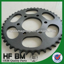1045 Steel Bajaj Gear Galvanized Motorcycle Transmission Parts, Motor Bike Pinions 42T China Manufactory